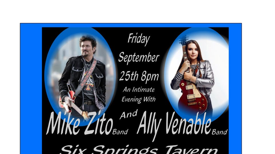 An Intimate Evening With Mike Zito Band and Ally Venable Band & Hula Haze