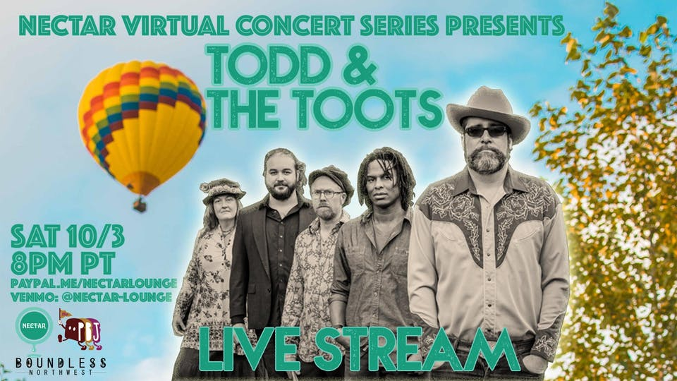 NVCS presents TOOD AND THE TOOTS (live stream)