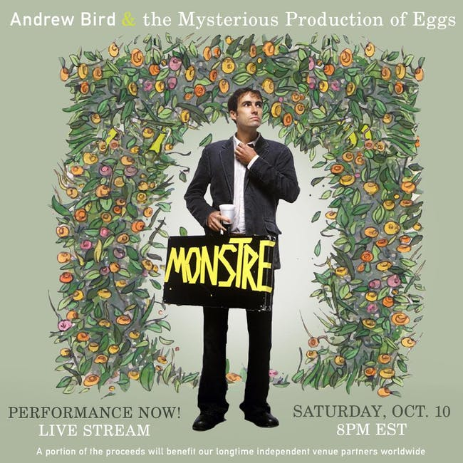 Andrew Bird & The Mysterious Production of Eggs, Live Stream!