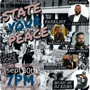 State Your PEACE Open Discussion