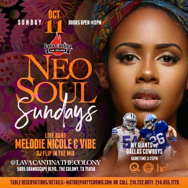 NEO SOUL SUNDAYS feat MELODIE NICOLE & VIBE THE BAND