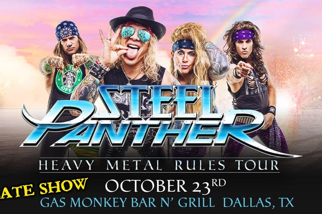 Steel Panther - Heavy Metal Rules Tour (LATE SHOW)