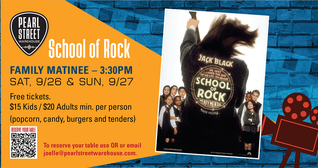 "PSW  Family Movie Matinee. ""School of Rock"""