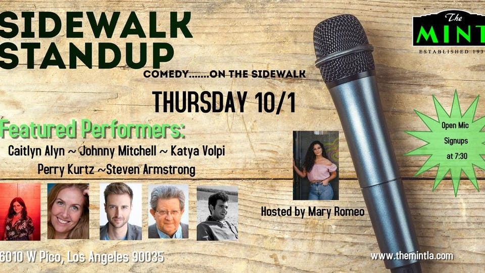 Sidewalk Standup - comedy....open mic Plus Featured Performers