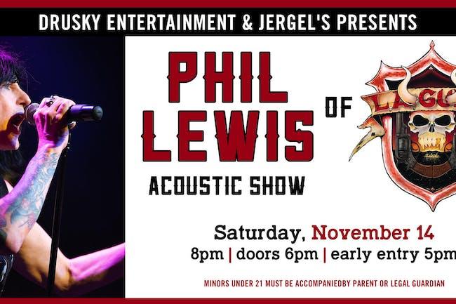 Phil Lewis (of L.A. Guns) Acoustic