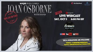 Joan Osborne 100% LIVE webcast with Band