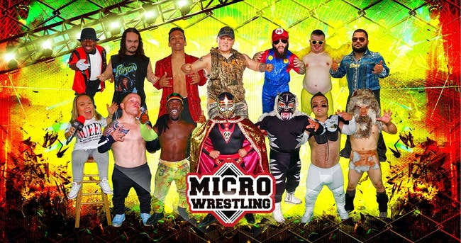 Micro Wrestling Live in The Afterlife Music Hall a