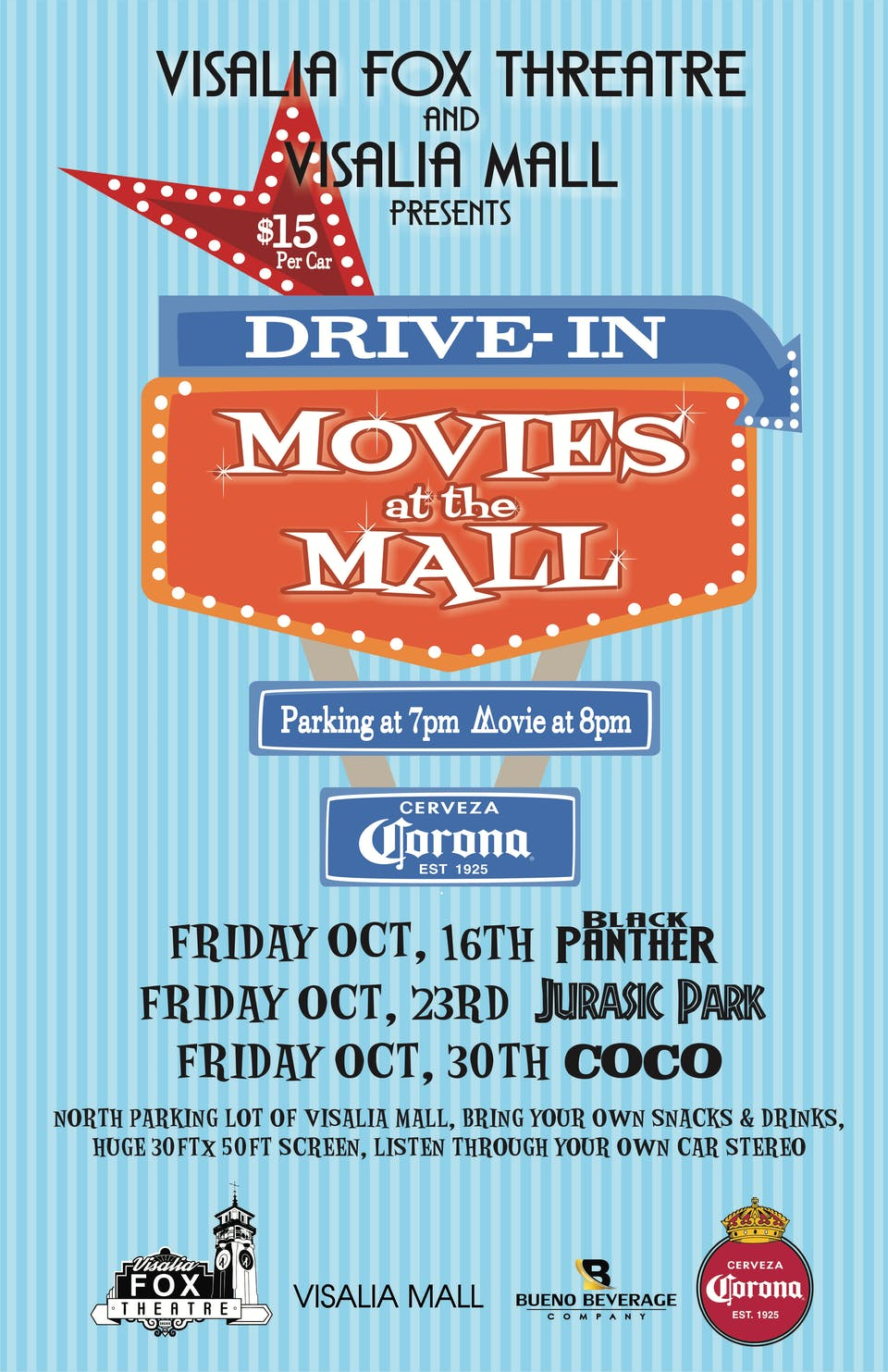 "Drive-In Movies at the Mall featuring ""Jurassic Park"""