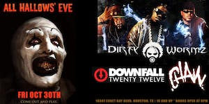 All Hallows Eve Party feature Dirty Wormz, Downfall 2012, & Chaw