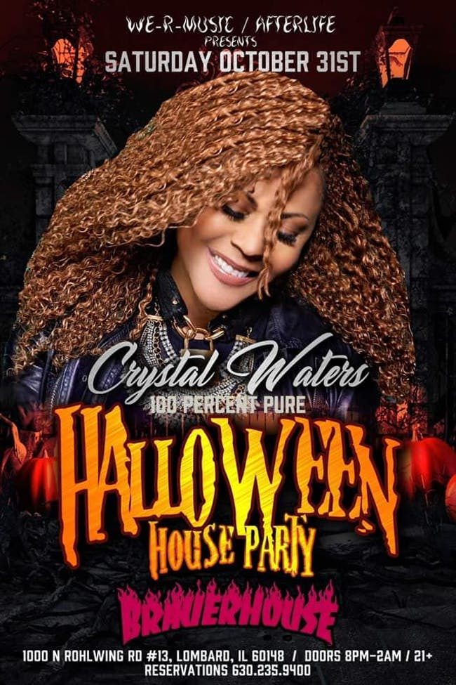 Crystal Waters 100 Percent Pure Halloween House Party