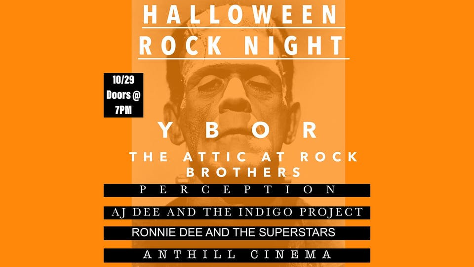 Halloween Rock Night! Feat AJ Dee, Ronnie Dee, Anthill Cinema, Perception