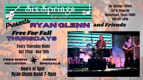 Free For Fall with Ryan Glenn  and Friends special guest Francie Drescher
