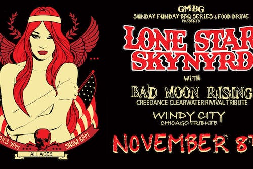 Sunday  FUNday BBQ Series  & Food Drive Ft. Lone Star Skynyrd