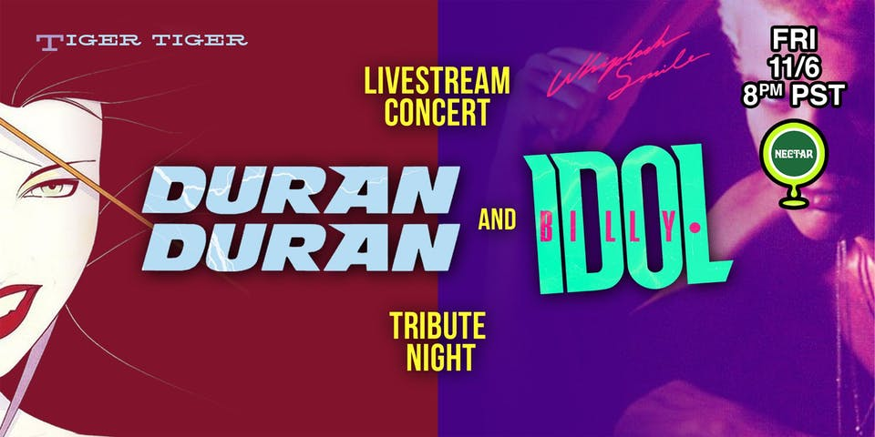 NVCS presents Tiger Tiger/Whiplash Smile (Duran Duran/Billy Idol) LIVESTEAM