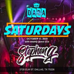 Saturdays with guest DJ Stephen G