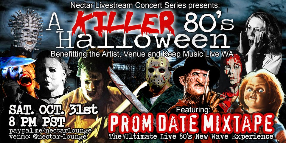 "NVCS  presents ""A KILLER '80s Halloween"" feat PROM DATE MIXTAPE"