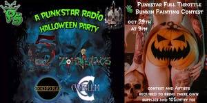 Punk Star Radio Halloween Party w/ 5Fifteen, Zombieface, Khepera, & Cymblem