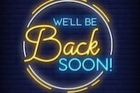We Will Be  Back.