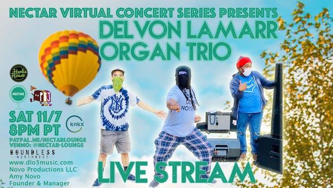 NVCS presents DELVON LAMARR ORGAN TRIO (live stream)