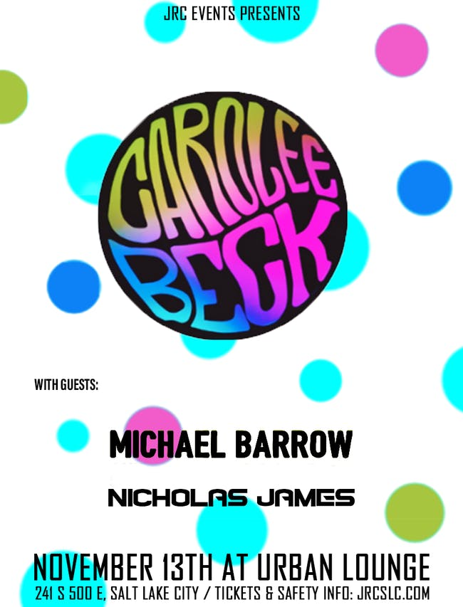 Carolee Beck, Michael Barrow, Nicholas James *Seated Event*