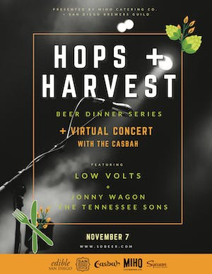 Hops + Harvest Beer Dinner + Jonny Wagon and the Tennessee Sons, Low Volts