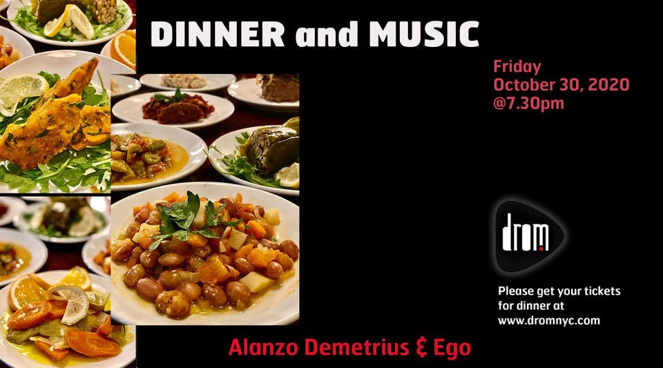 Special Dinner Package/ LS: Alonzo Demetrius & The Ego