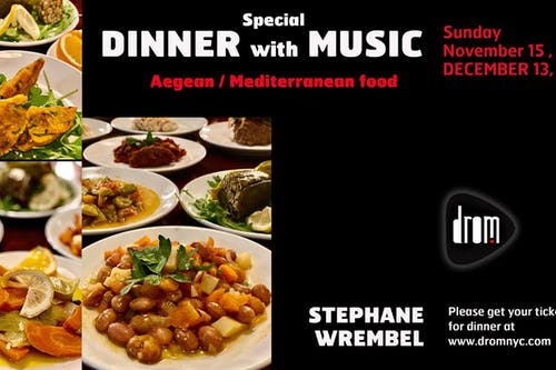 Special Dinner Package/ LS: The Stephane Wrembel Band