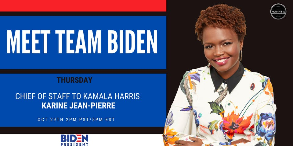 Meet Team Biden: Karine Jean-Pierre - Chief of Staff to Sen. Kamala Harris