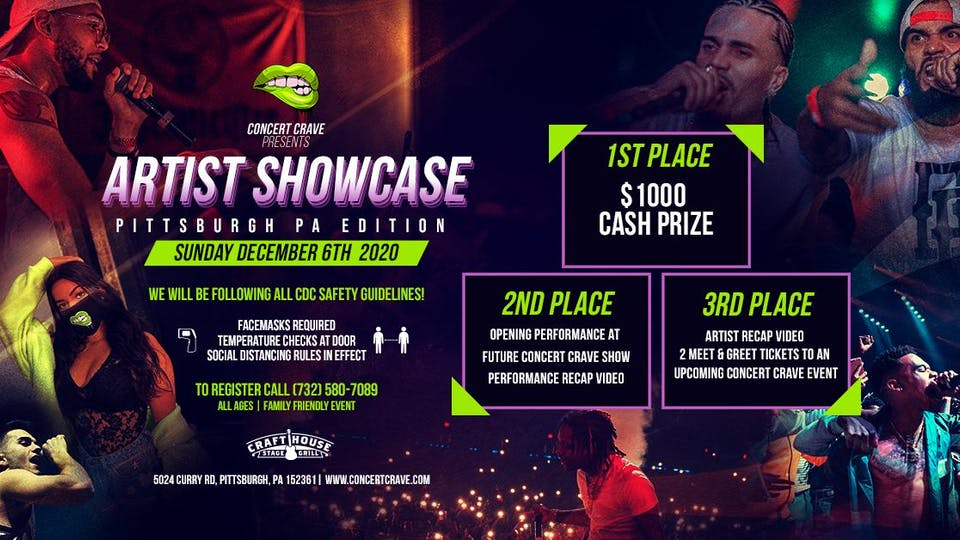 Concert Crave Artist Showcase - PITTSBURGH, PA 12.06.20