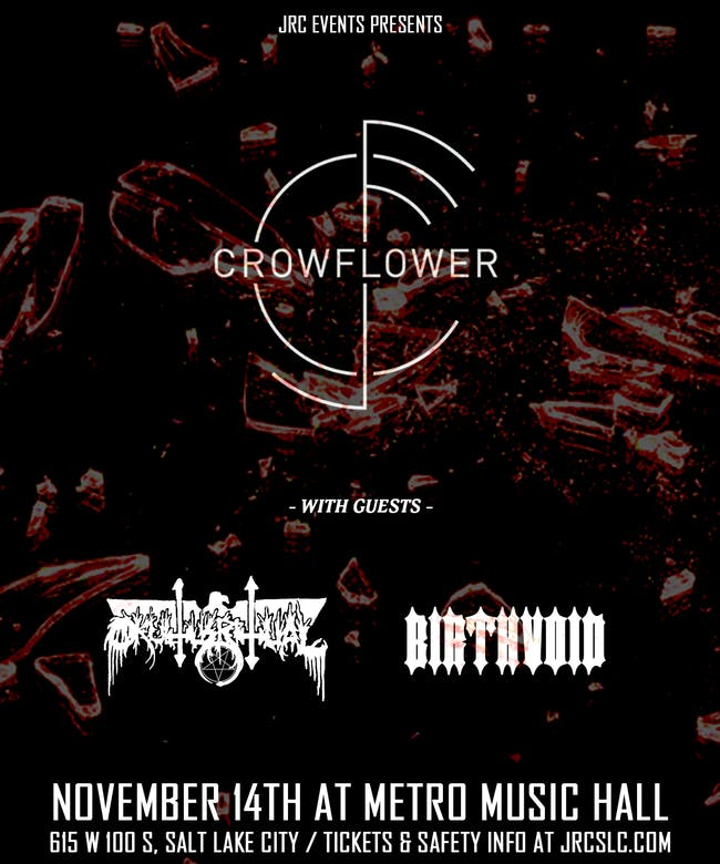 Crowflower w/ Okultus Ritual & Birthvoid *Seated Event*