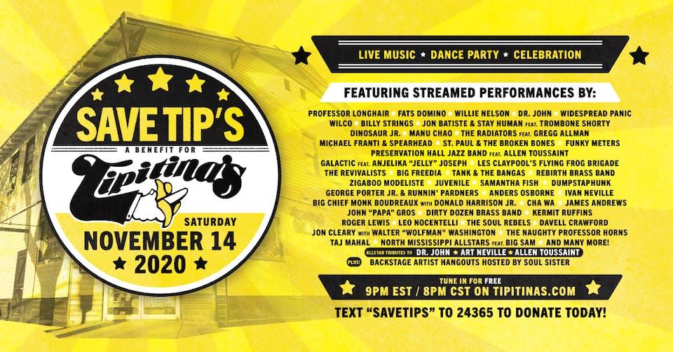 Save Tips!   FREE Livestream Benefit Show