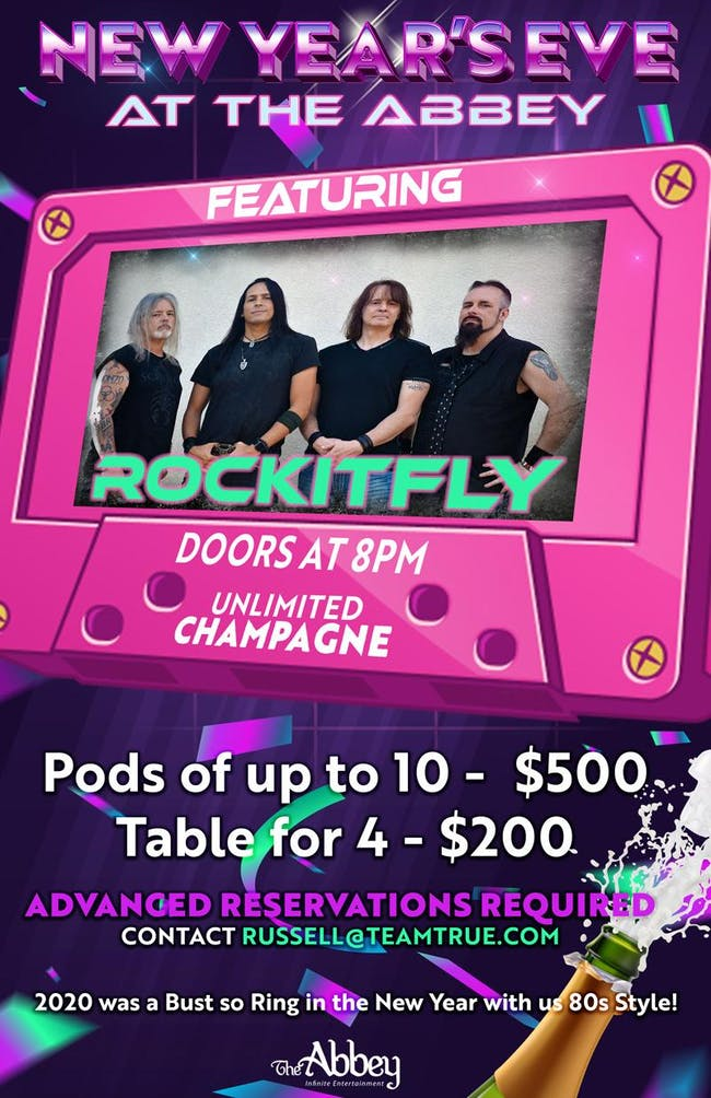 New Year's at The Abbey with Rockit Fly