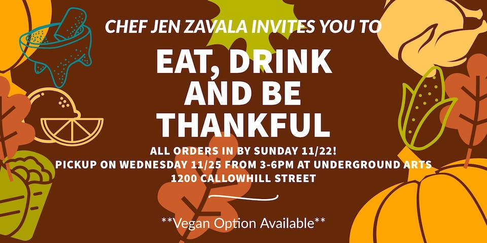 THANKSGIVING DINNER WITH CHEF ZAVALA
