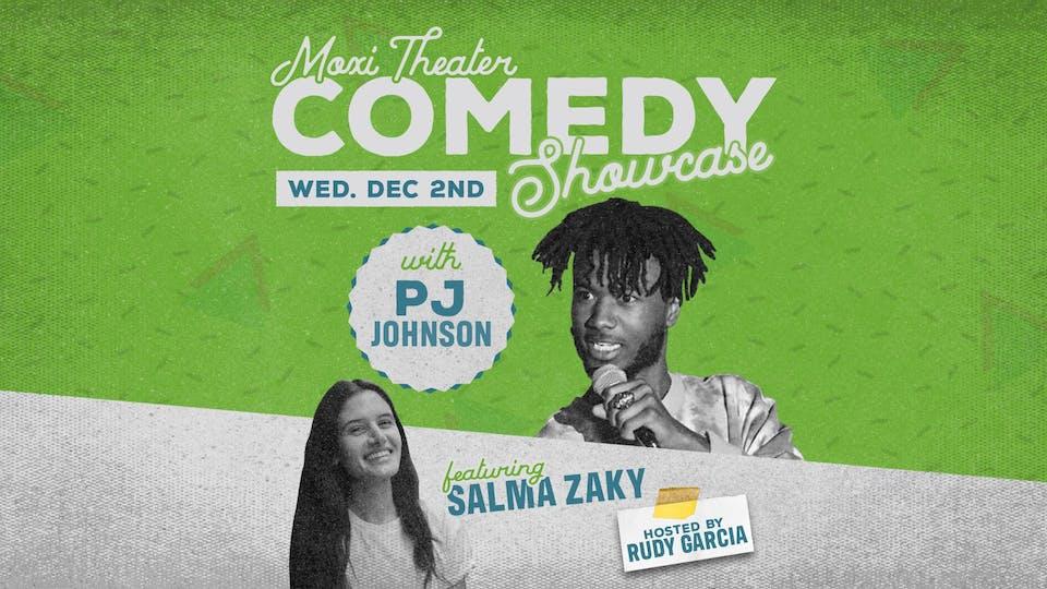 Moxi Theater Comedy Showcase with PJ Johnson, Salma Zaky