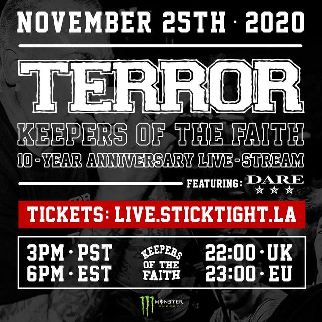 Terror: Keepers Of The Faith 10 Year Livestream
