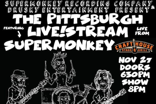 Pittsburgh Live!Stream featuring Supermonkey