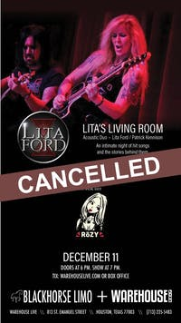 CANCELLED: LITA's LIVING ROOM - ACOUSTIC DUO
