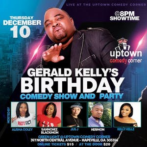 GERALD KELLY'S BIRTHDAY COMEDY SHOW & PARTY