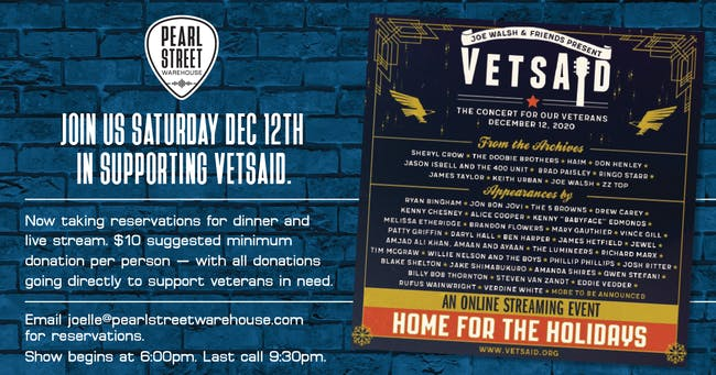 """VetsAid  - """"A Concert for our Veterans""""  Watch Party"""