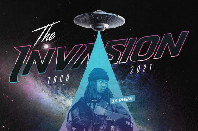 The Invasion Tour 2021 Featuring: 1K Phew & Steven Malcolm