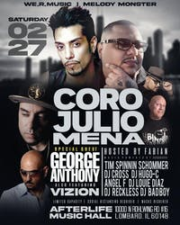 Feb 27th performing live Coro & Julio Mena  With special guest: George A