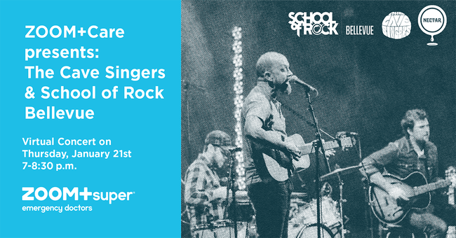 ZOOM+Care  presents THE CAVE SINGERS with SCHOOL OF ROCK (Live Stream)