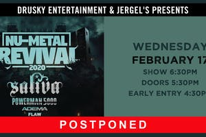 POSTPONED - Nu-Metal Revival featuring Saliva & Powerman 5000