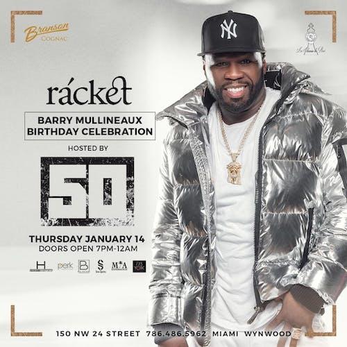 50 Cent at Racket Thursday 1/14