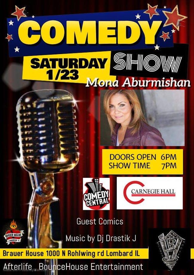 Comedy Show With Mona Aburmishan & Friends @Brauer House (Lombard, IL)