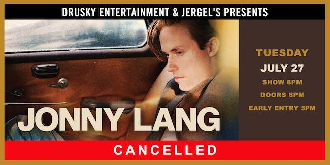 CANCELED - Jonny Lang