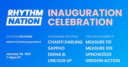 INAUGURATION CELEBRATION! Livestreamed panel discussion & dance party