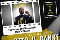 """Otto V. Banks Announcement for Mayor 2021 & """"Change Agent"""" viewing"""