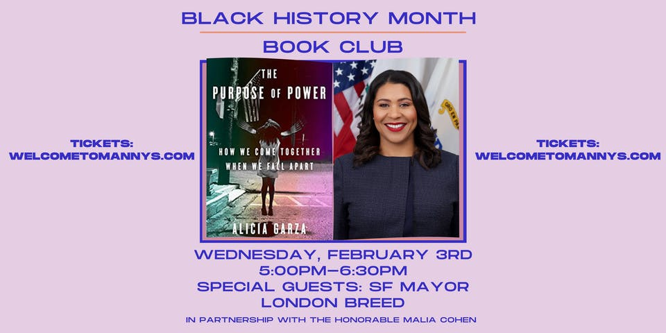 Black History Month: Book Club w/ Mayor London Breed: The Purpose of Power