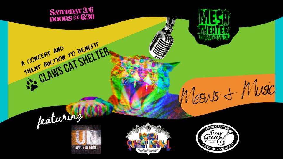 Meows + Music w/ Stray Grass, Peach street Revival + More!
